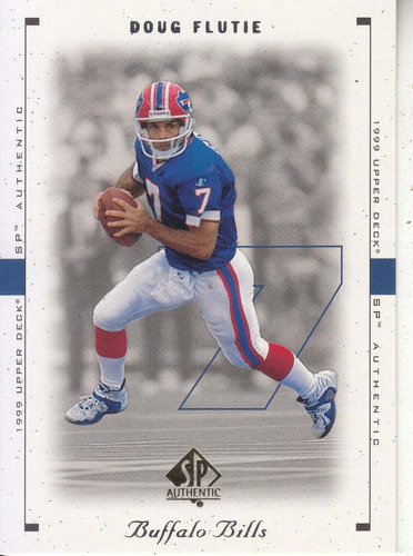 1999 sp authentic doug flutie qb bills