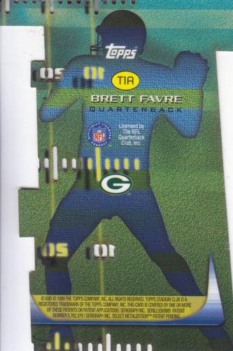 1999 stadium club 3 x 3 luminous brett favre qb packers
