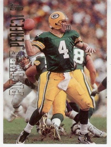 1999 topps picture perfect brett favre packers qb