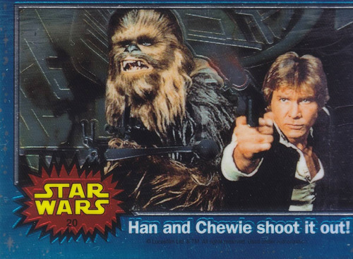 1999 topps star wars chrome archives han chewie #20