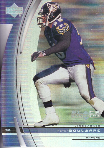 1999 ud black diamond cut peter boulware lb ravens