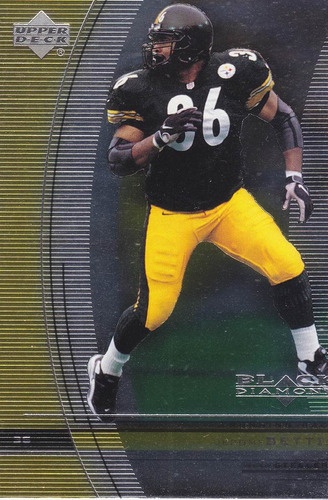 1999 ud black diamond jerome bettis rb steelers