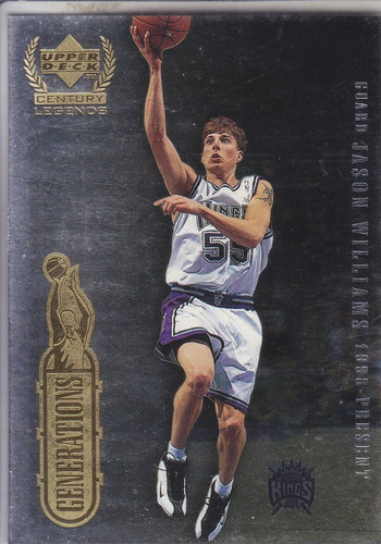 1999 ud century legends generations jason williams  maravich
