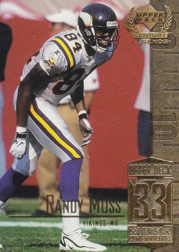 1999 ud century legends randy moss wr vikings