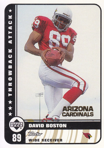 1999 ud retro throwback attack rookie david boston wr cards
