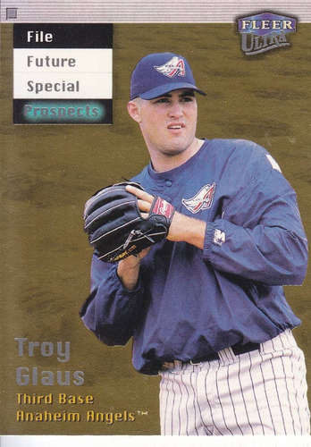 1999 ultra rookie gold medallion troy glaus angels