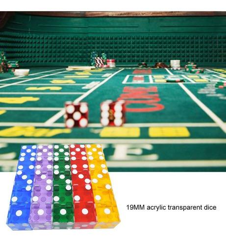 19mm dados del casino con los bordes de los números de seri