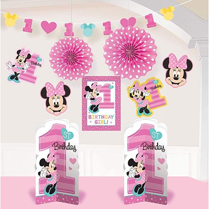 1er Cumpleaños Minnie Mouse Kit 10 Pza Decorar La Habitación -   73.733 en  Mercado Libre 974a0c40355