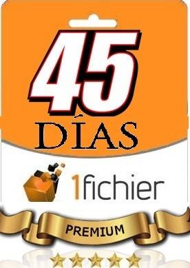 1fichier Cuentas Access Premium 45 Dias Sin Limites - $ 72,65