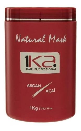 1ka shampoo + condicionador + máscara argan e açai - oferta