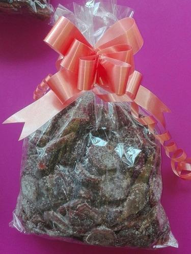 1kg de fresas cristalizadas cubiertas con azucar o chile