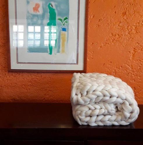 1kg estambre grueso de lana merino blanco envío gratis