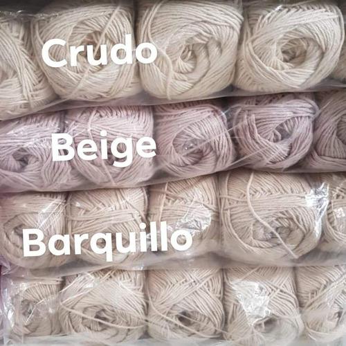 1kg ovillos algodón 4 hebras (10 ovillos)