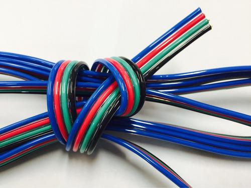 1m cable rgb led seccion 0.16 3528 5050 original fabrica