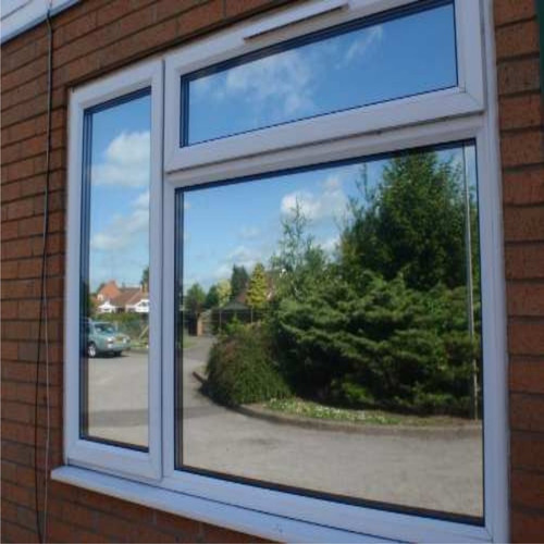 1m x 1,52m de film espejado plata p/ vidrios y ventanas