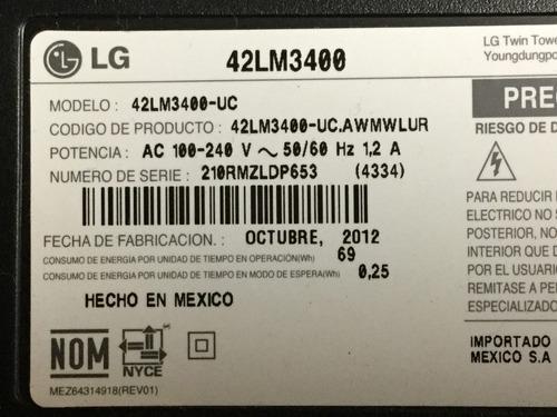 1o* lg 42lm3400 fuente poder eax64604501 1.5 lgp32-12p
