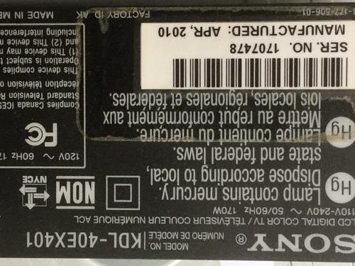 1o* sony kdl-40ex401 fuente poder aps-254    4-168-556-01