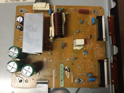 1o*  tv samsung pl43d490a1d refaccion main fuente lógica x y