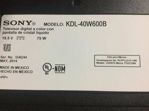 1o* tv sony kdl-40w600b main 1-889-202-22 173457422