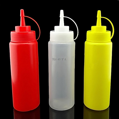 1pc 340ml 12oz squeeze bottle condimento dispenser ketchup m