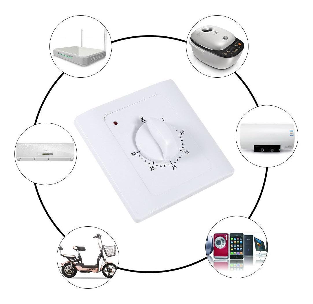 GIlH CA 220V 10A 30 Min tiempo de cuenta atr/ás cubierta inteligente temporizador de tiempo del control del interruptor inteligente WIFI Socket