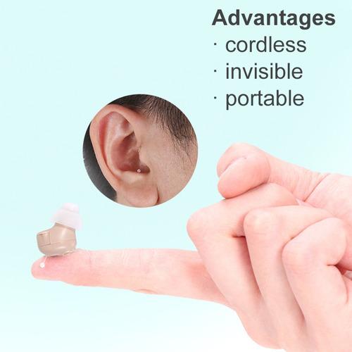 1pc audífonos mini amplificador sonido tapones oídos sin c