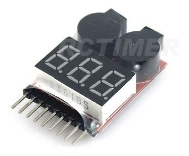 1s-8s cell lipo battery voltage tester