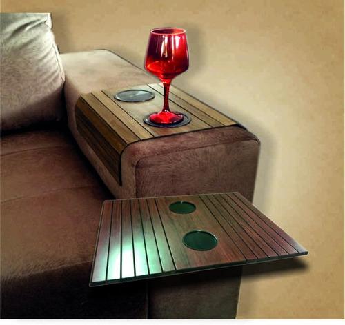 1(uma) esteira com porta copos para braço de sofá ipe