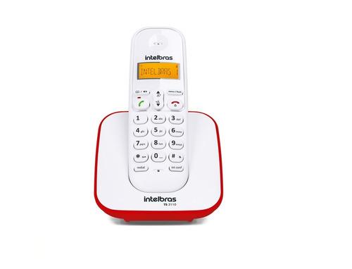 1un telefone sem fio com id ts3110 vermelho e branco