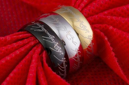 1x anillo señor de los anillos anillo en acero inoxidable