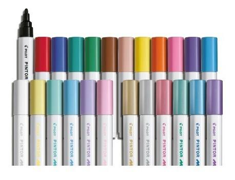 1x caneta marcador pilot pintor tipo posca pont media escolh