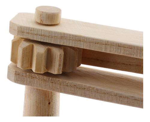 1x castañuela de madera diseño visual innovador de mano