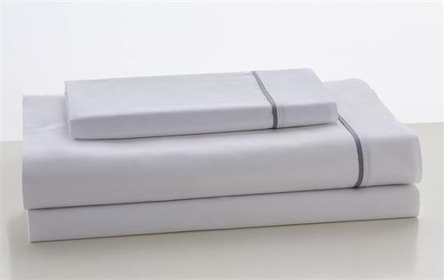 2+1 = 3 fundas p almohada blanca 300 hilos con bies plata