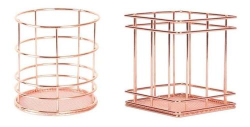 2 / 3pcs set de cesta de almacenamiento de mesa de metal