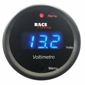 2  52mm caixa preta medidor digital volt calibre auto/corrid