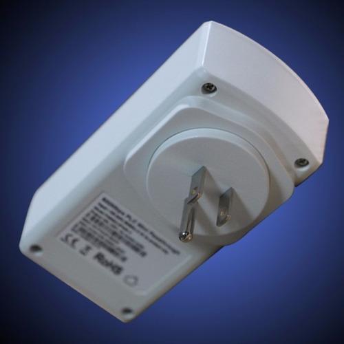 2 adaptador ethernet internet red electrica router cámara ip