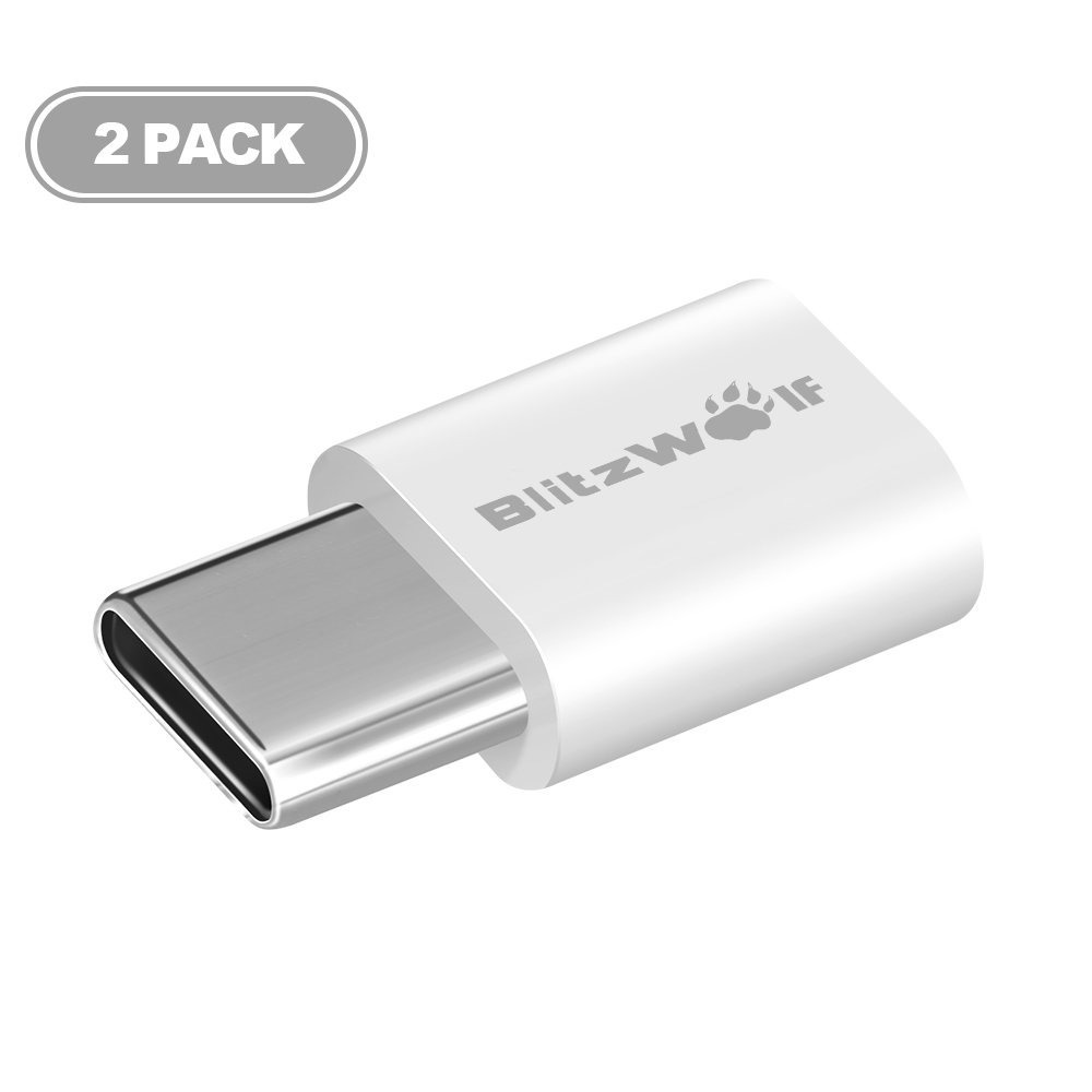 2 adaptadores blitzwolf micro usb a usb tipo c en mercado libre. Black Bedroom Furniture Sets. Home Design Ideas