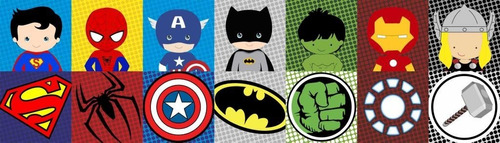 2 adesivo infantil faixa border super herois menino