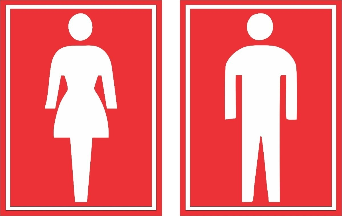 Imagens Porta Banheiro Feminino : Adesivos banheiro masculino feminino cm