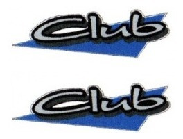 2 adesivos club parati + brinde 2 unidades