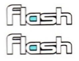 2 adesivos flash resinado + brinde golf flash 2 unidades