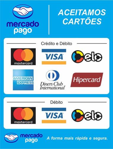 2 adesivos mercado pago - maquininha de cartão point mini
