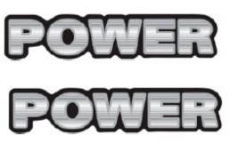 2 adesivos power resinado + brinde 2 unidades gol parati sav