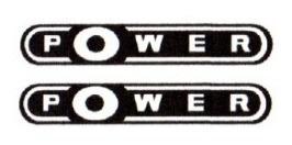 2 adesivos power resinado gol fox + brinde gol power
