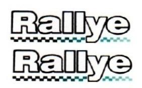 2 adesivos rallye + brinde rallye gol 2 unidades