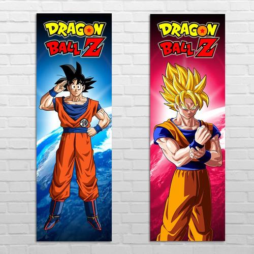 2 afiches posters de goku dragon ball z 1 metro envío gratis