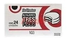 2 alfajor argentino las colonias tres pisos caixa/24 unidade