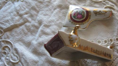 2 alhajeros de porcelana antiguos de colección