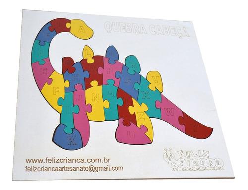 2 alinhavos dinossauros + 1 quebra cabeça