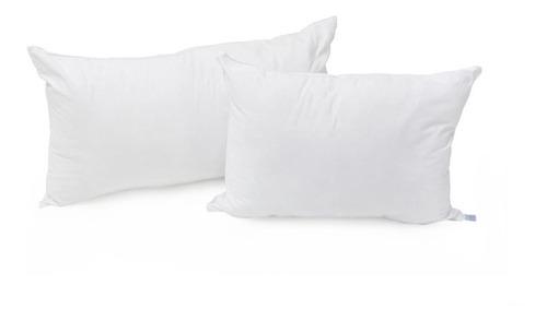 2 almohadas ks conforell tela lisa con 2fundas ks sin cierre